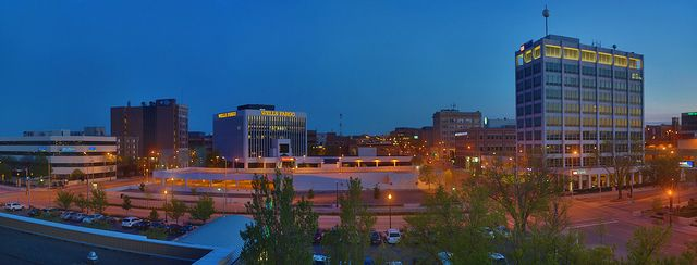 Sioux Falls Downtown Twilight Sioux Falls Sioux Falls South