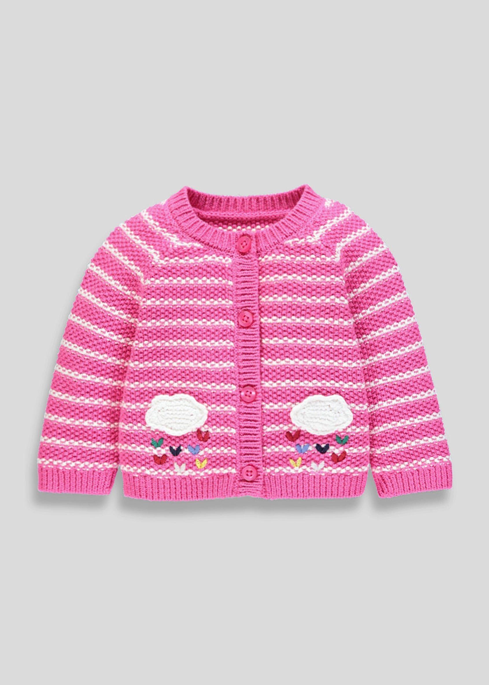 31808da29e5a Girls Cloud Stripe Cardigan (Newborn-18mths) in 2019