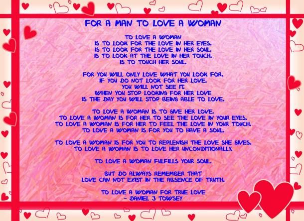 True Love Poems for Husband in jail | For a man to love a woman (framed)