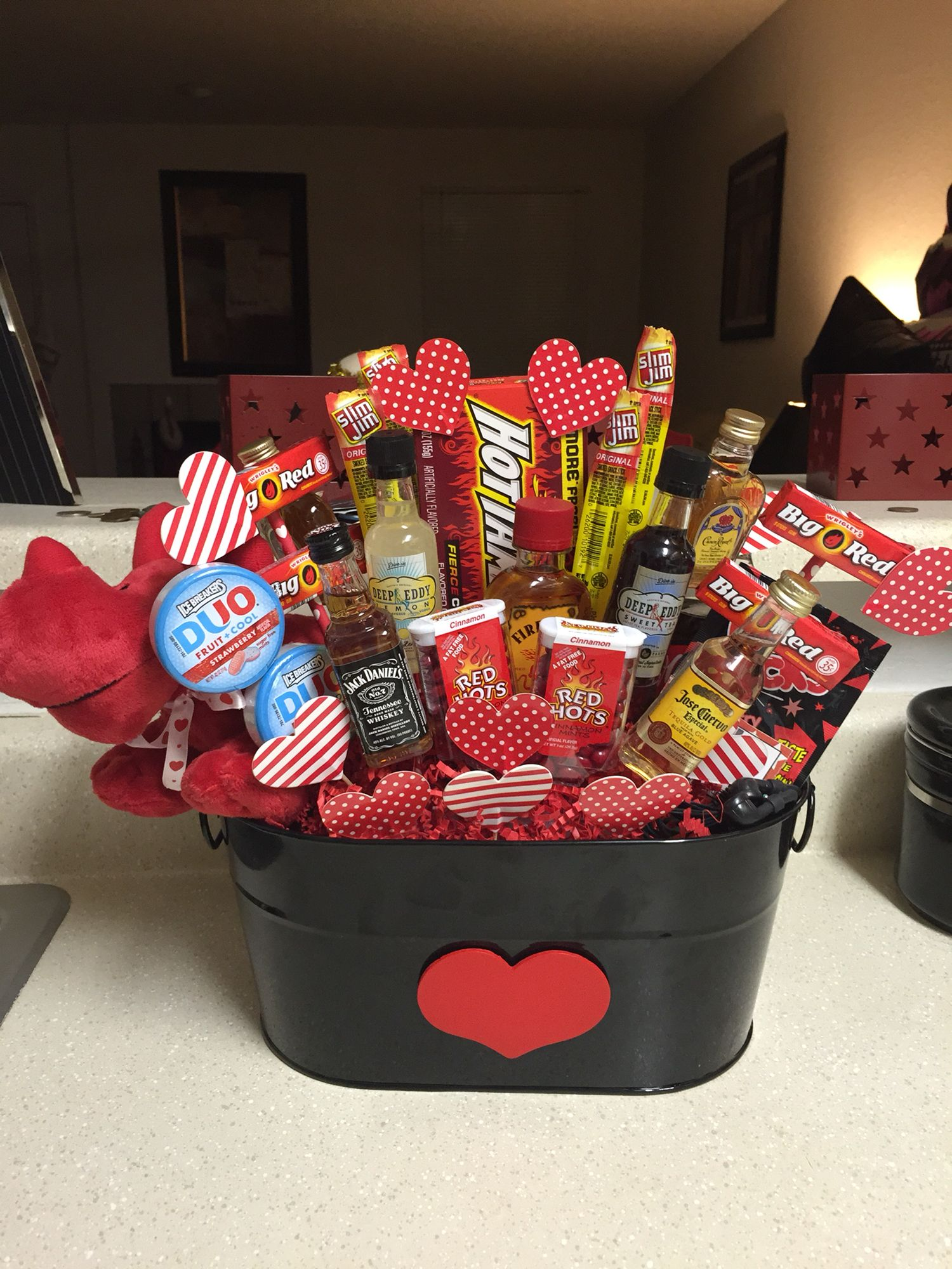 Gift Basket, Valentines Day Gift Basket, Man Bouquet, Mans Gift