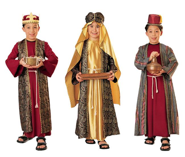 Boys Wise Man Costume Childs Christmas King Nativity Fancy Dress Kids Wiseman