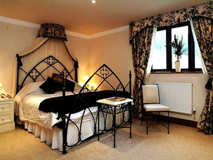 Gothic Bedroom Ideas gothic bedrooms with champagne pink walls   bedrooms   pinterest