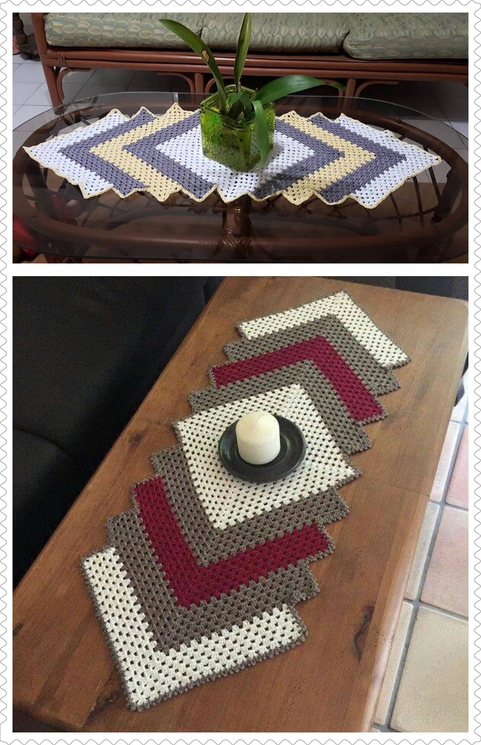 Drop In The Pond Runner Crafts Crochet Crochet Crochet Table