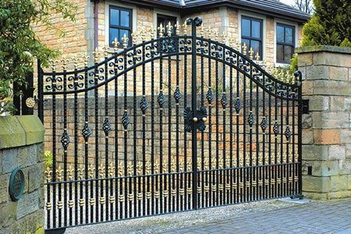 Puertas de jardín de hierro-Vallado, Enrejado y Puertas ... | rejas ...