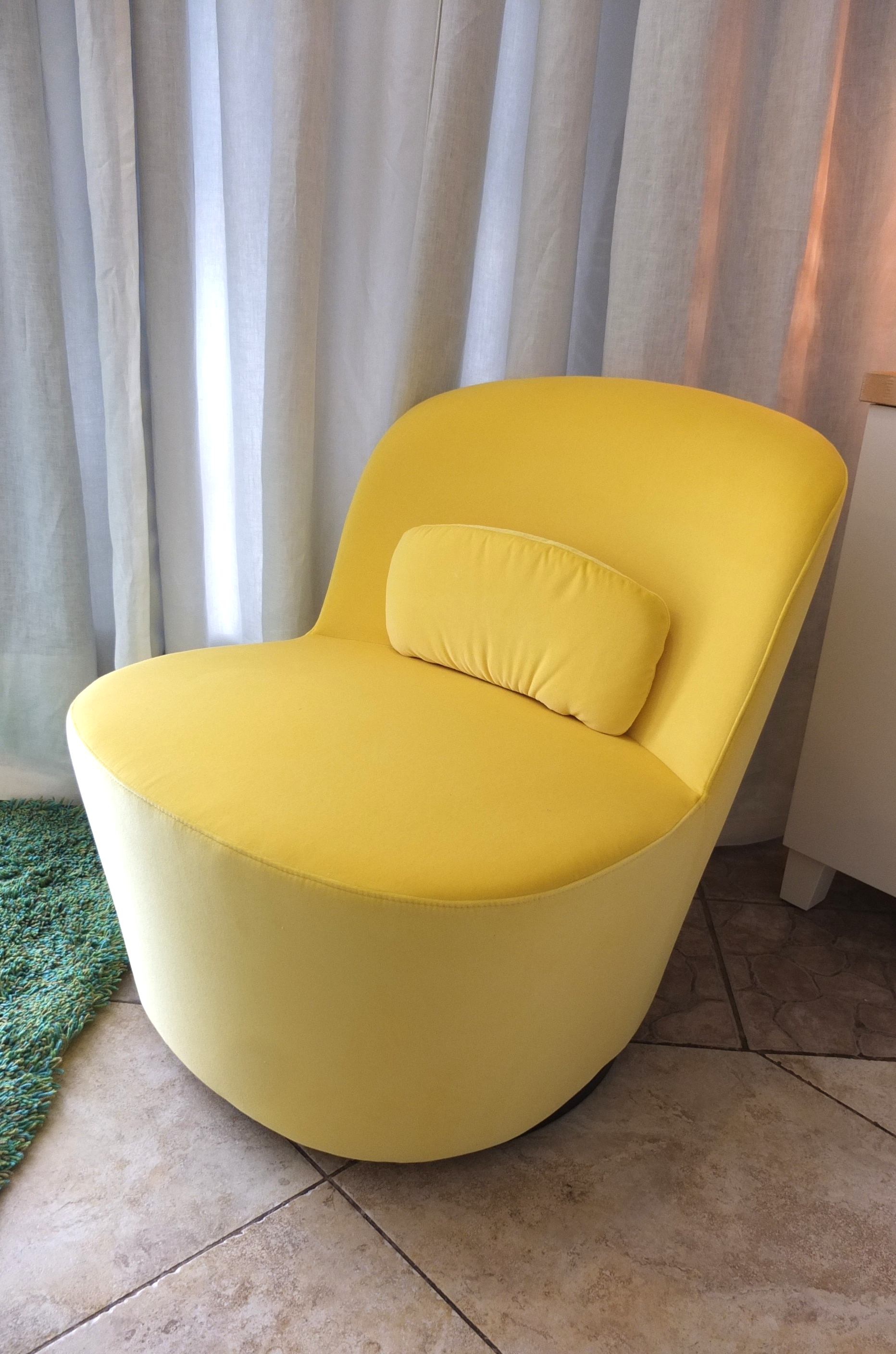 Ikea Yellow Chair With Its Small Footprint And Swivel Base, The Stockholm