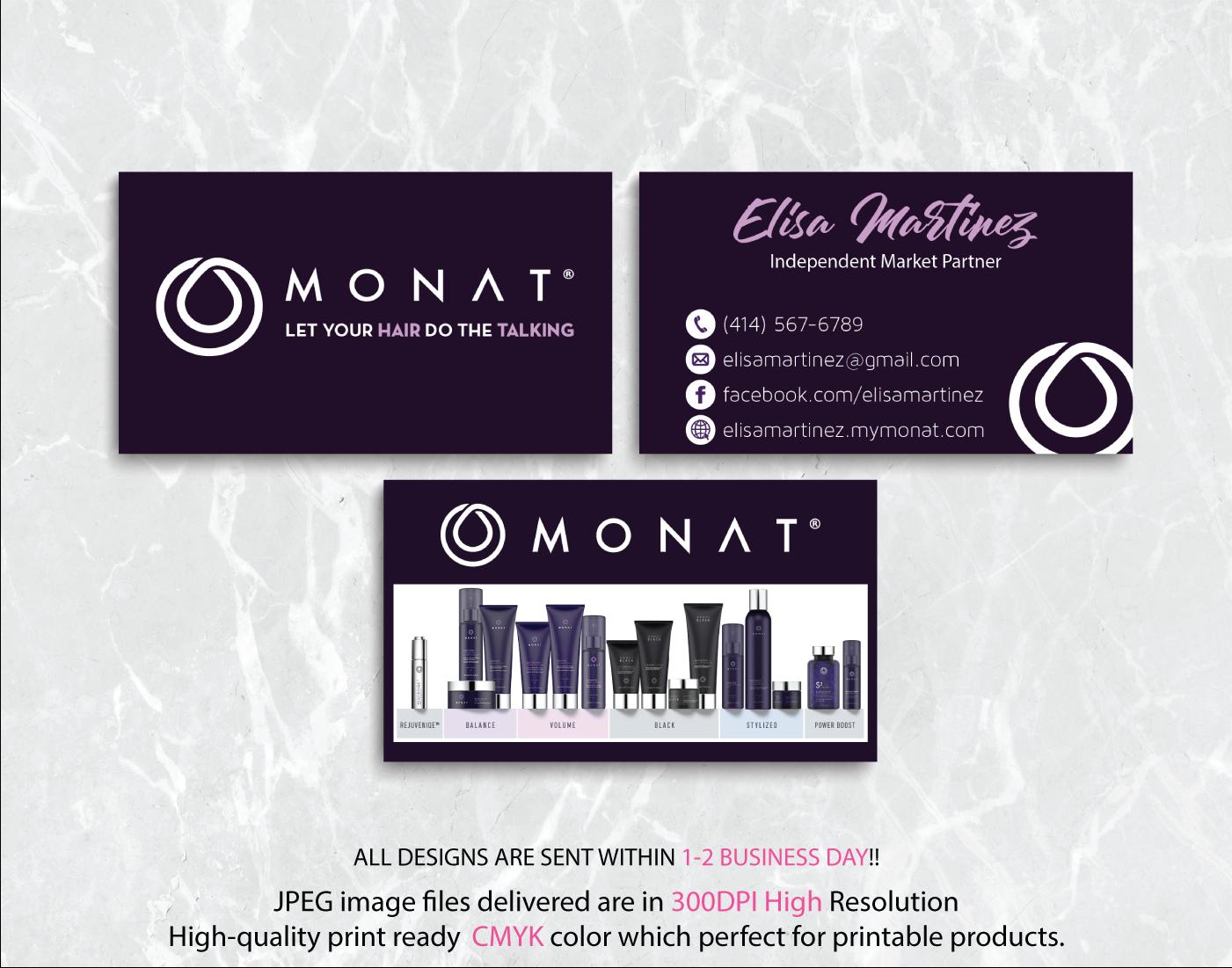 Monat Business Card, Custom Monat Business Card