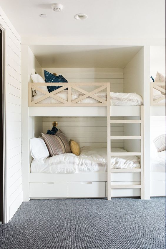 40 Space Saving Bunk Beds For Small Rooms You Need To Copy In 2019 In 2020 Bunk Bed Rooms Cool Bunk Beds Bunk Bed Designs