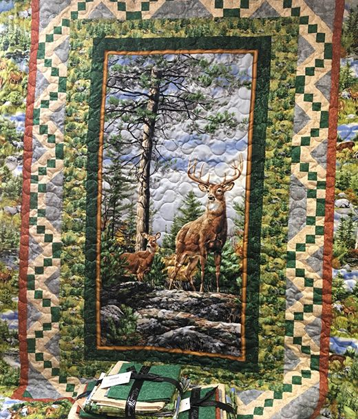 Deer Mountain Quilt Quilting Land Wildlife Quilts