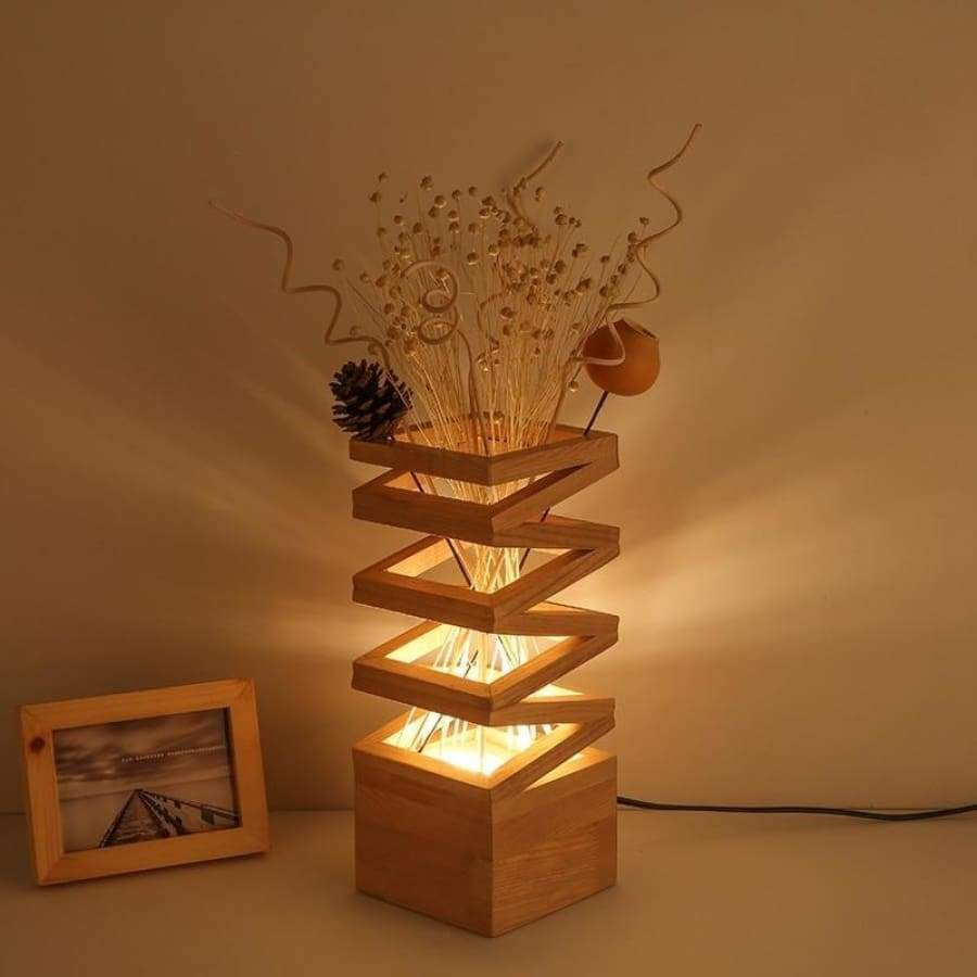 Introducing The Handcrafted Wooden Abstract Lamp This Is Where To