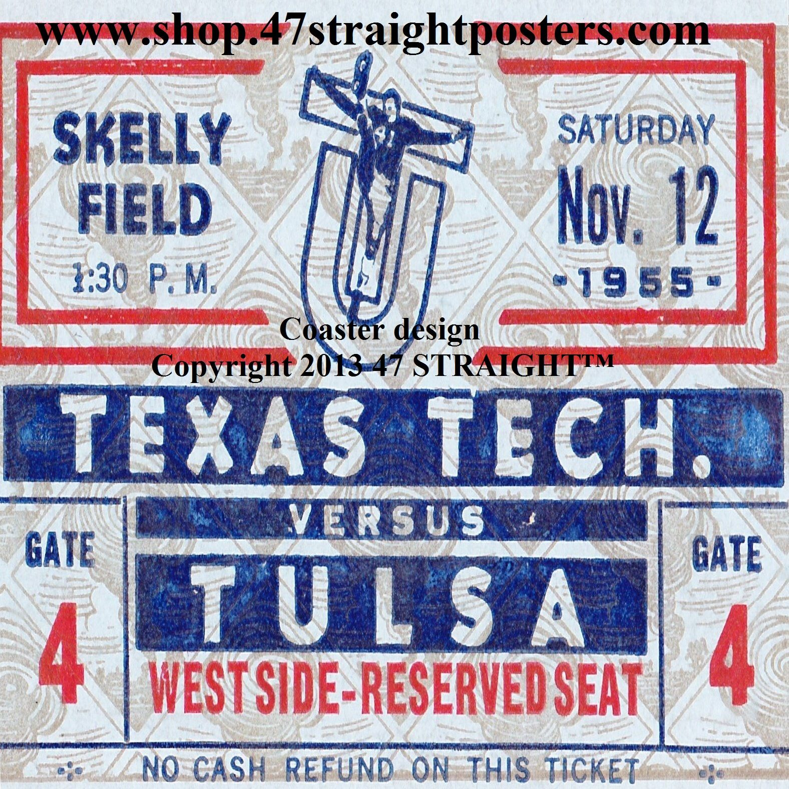 Tulsa football gifts. Available soon! 1955 Texas Tech vs