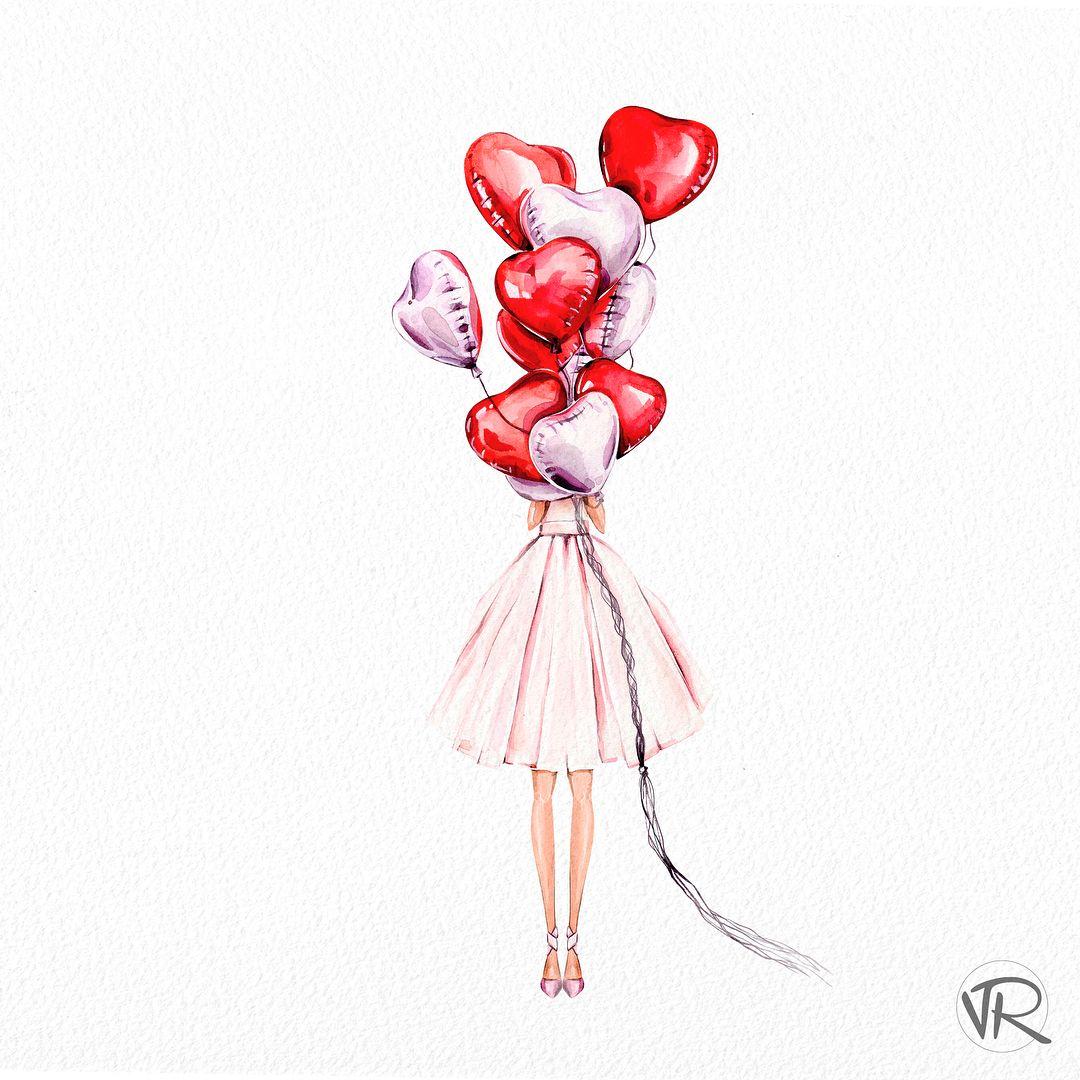 """Victoria Ryabinina on Instagram: """"Всем привет! 👋🏻 Судя по иллюстрации, надеюсь вы догадались, что я начала подготовку ко дню Святого Валентина😁 Это конечно, не единственная…"""""""