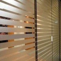 Adesivo Decorativo Faixa modelo 14 jateado para proteção de portas