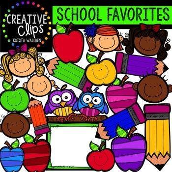 huge freebie school favorites creative clips digital clipart rh pinterest com Cute Clip Art for Teachers digital clock clipart for teachers