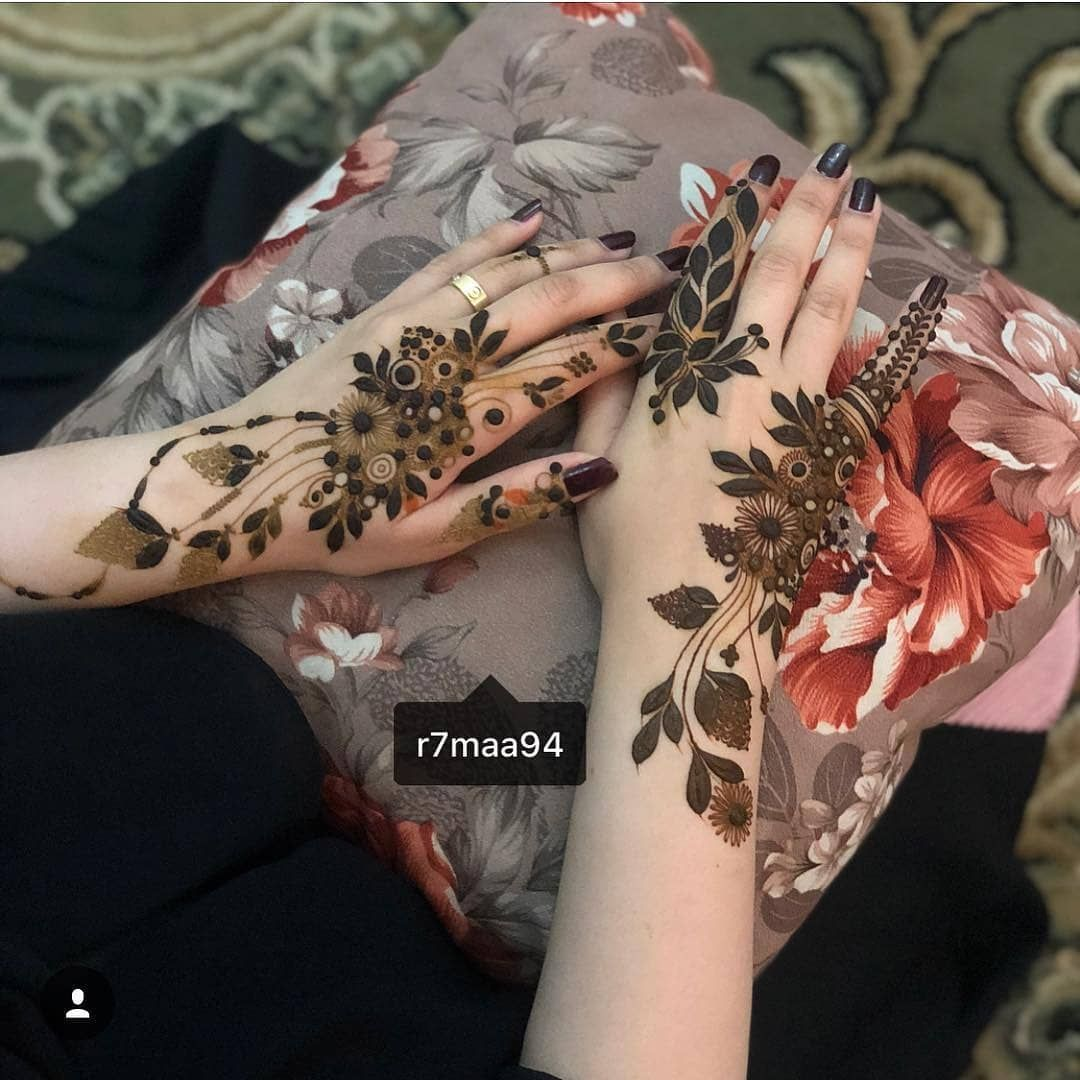 Regrann From R7maa94 Mehndi Design Photos Floral Henna Designs Unique Mehndi Designs