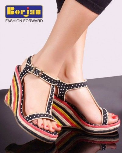 Borjan New Dotted Wedge Style Sandals, Shoes 2014