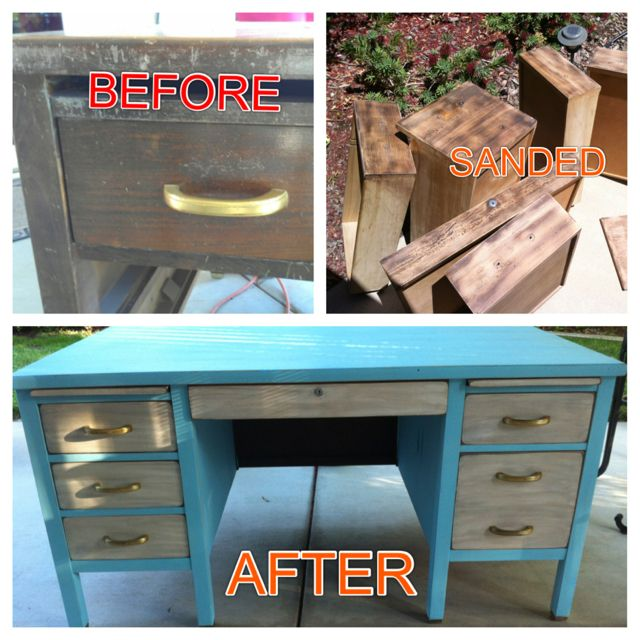 15 Thrifty And Chic Diy Home Decorating Ideas: My Shabby Chic Refurbished Desk!