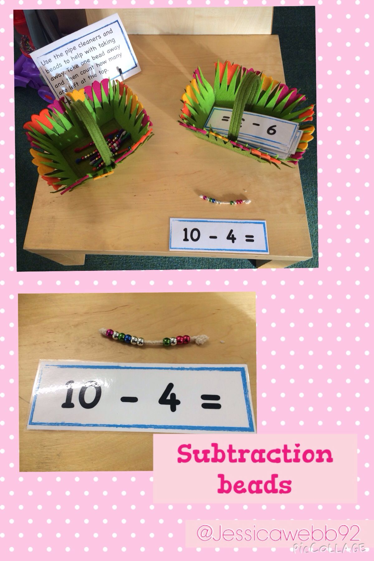 Subtraction Beads Take Away The Correct Number Of Beads