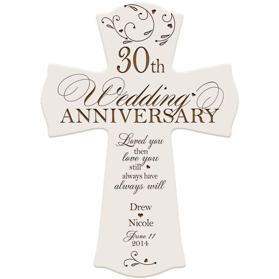 30th Wedding Anniversary Gift Ideas For Parents: Personalized 30th Anniversary Gift For By