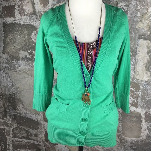 Mossimo light green cardigan button down sweater Gently worn and ...