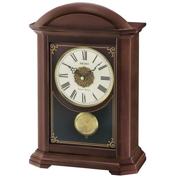 Seiko Clock Garamond Mantel Qxq030blh 169 Liked On Polyvore Featuring Home