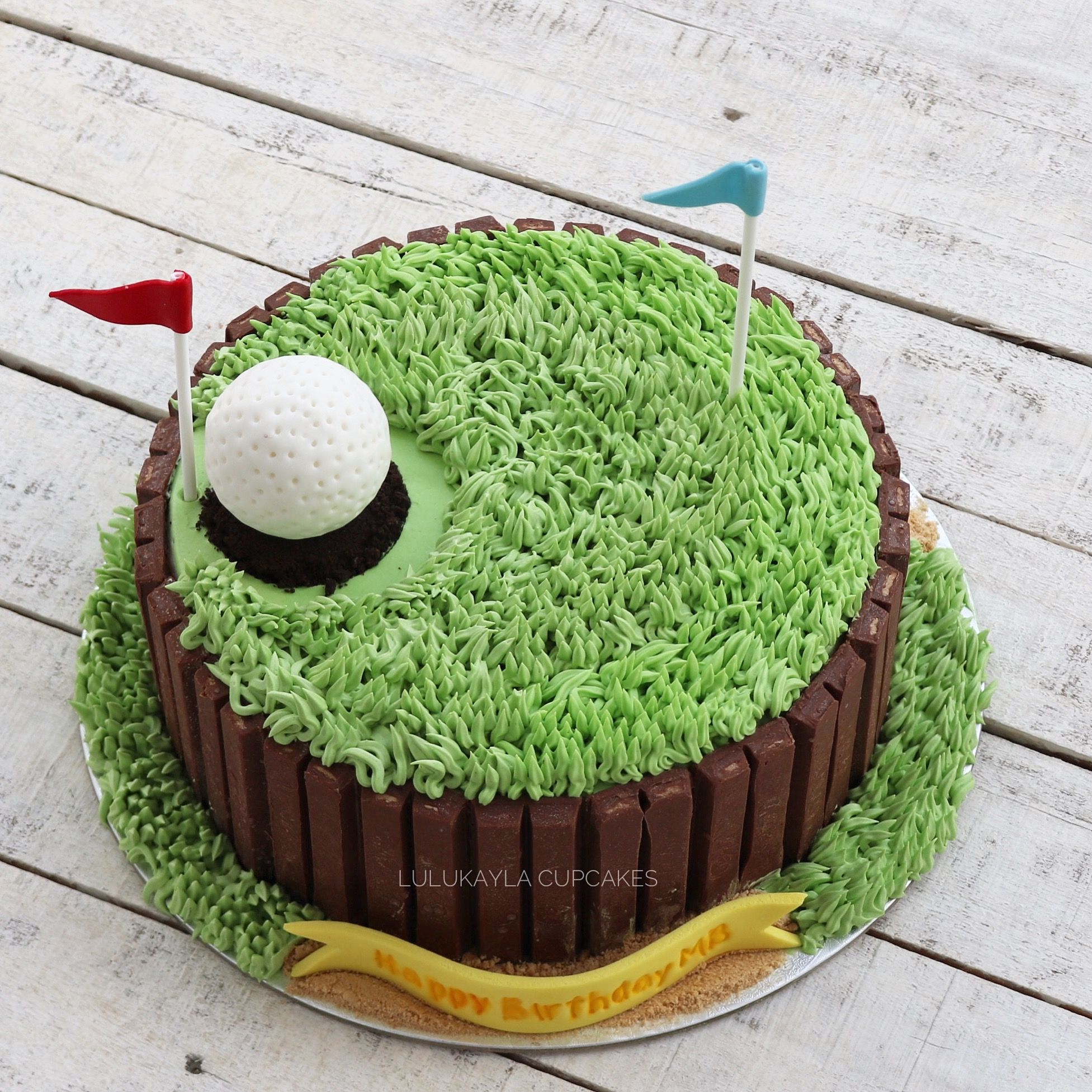 Golf Buttercream Cake With Images Easy Birthday Cake Recipes