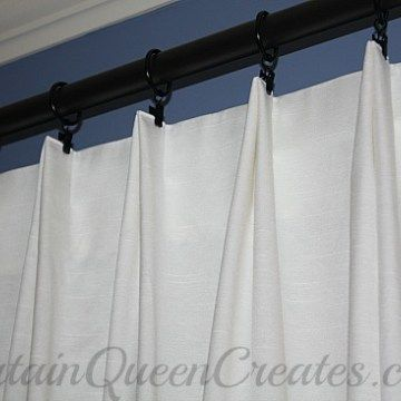 Pinch Pleat Drapery Panels Tutorial Euro Pleat Curtains