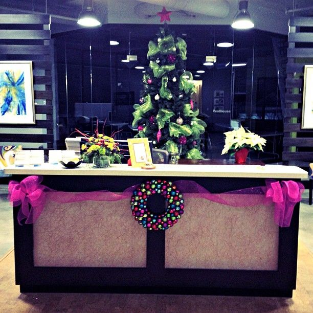 Our Office Is Beautifully Decorated For The Holidays. Have