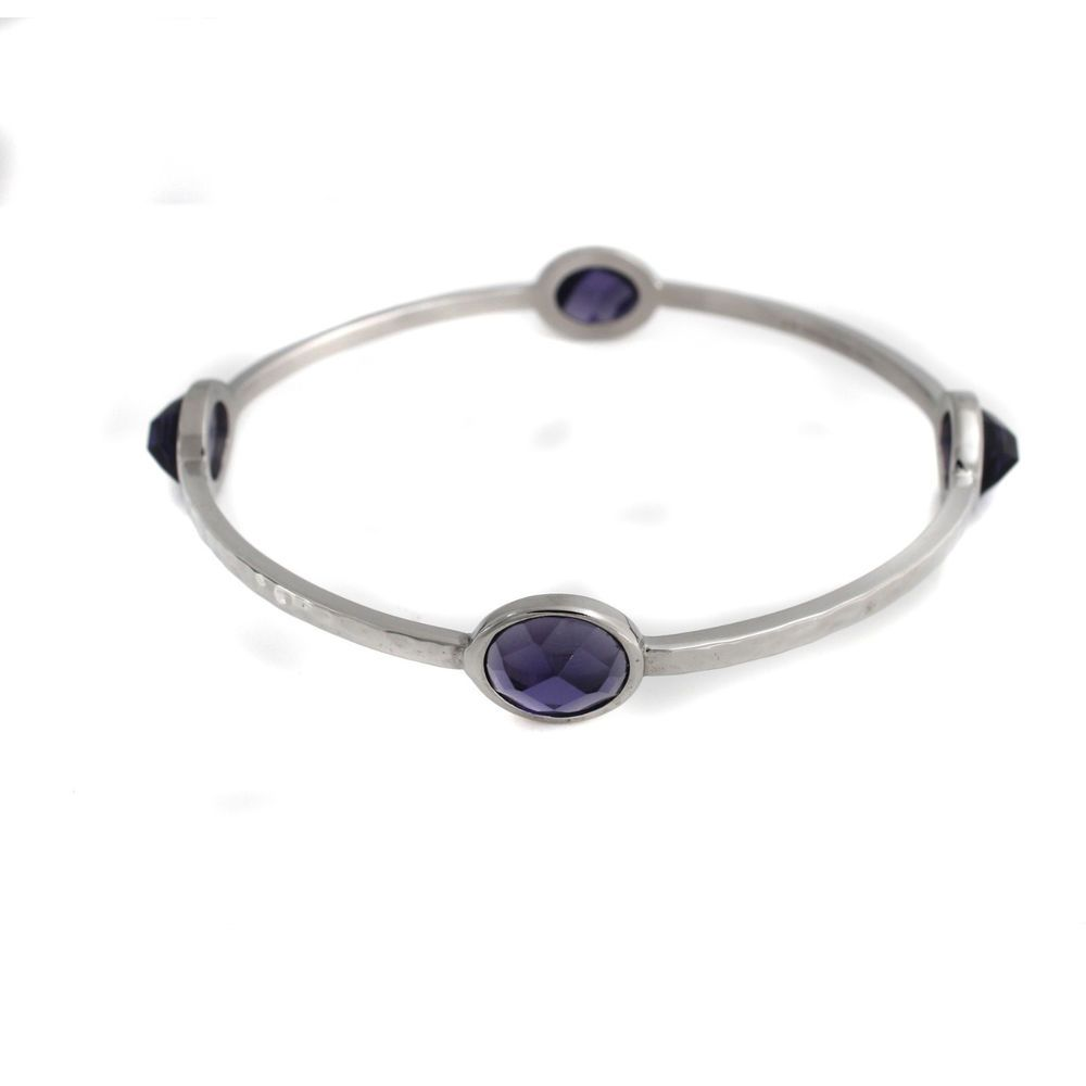 Steel by Design Faceted Purple Crystal Large Bangles #SteelbyDesign #Bangle
