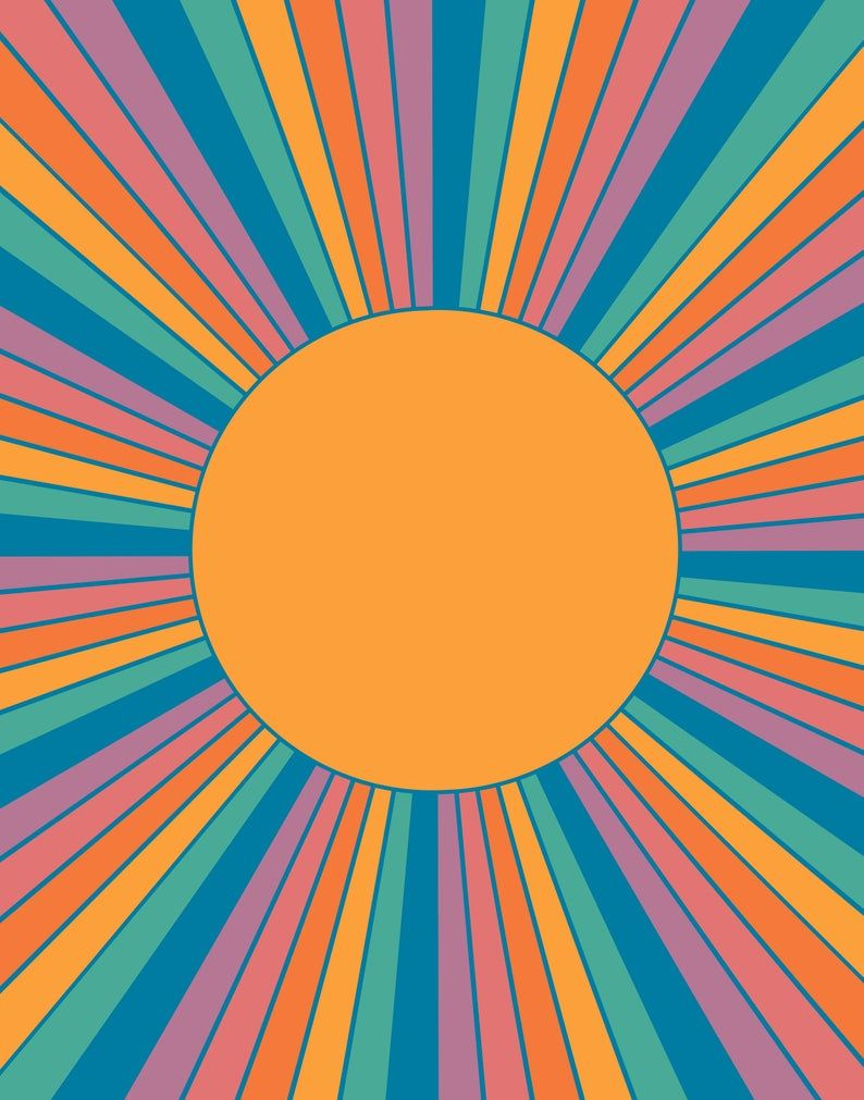 Sunshine State Retro Sunrise Print