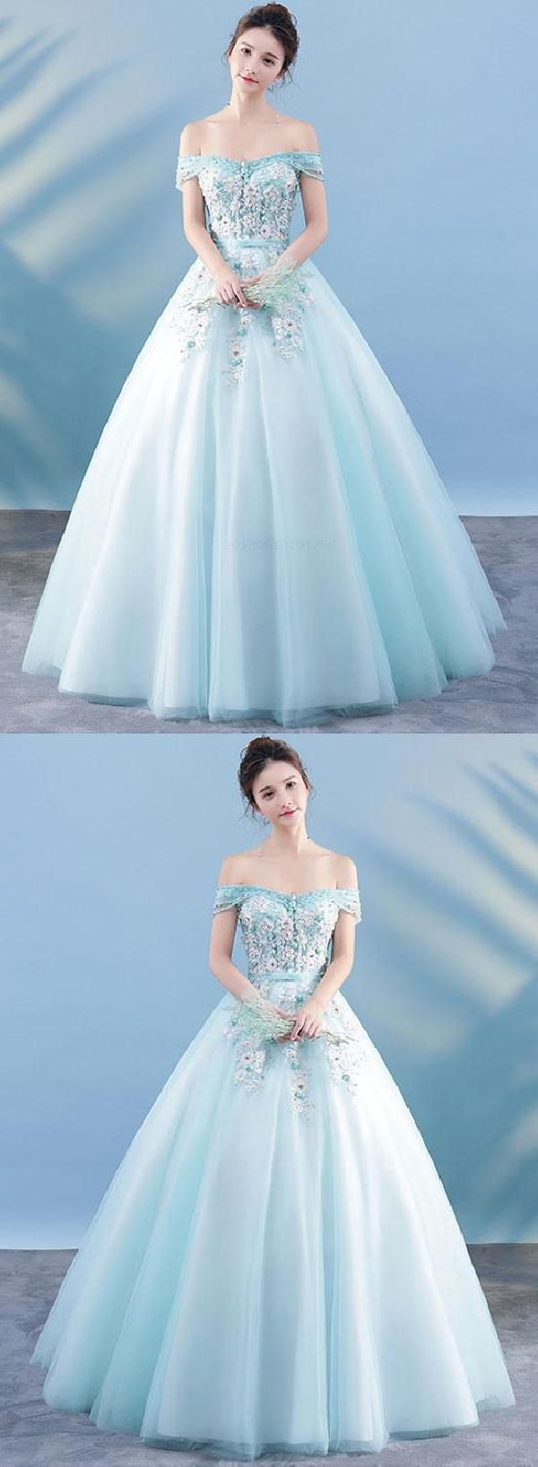Custom made comely lace prom dress light blue prom dress blue prom