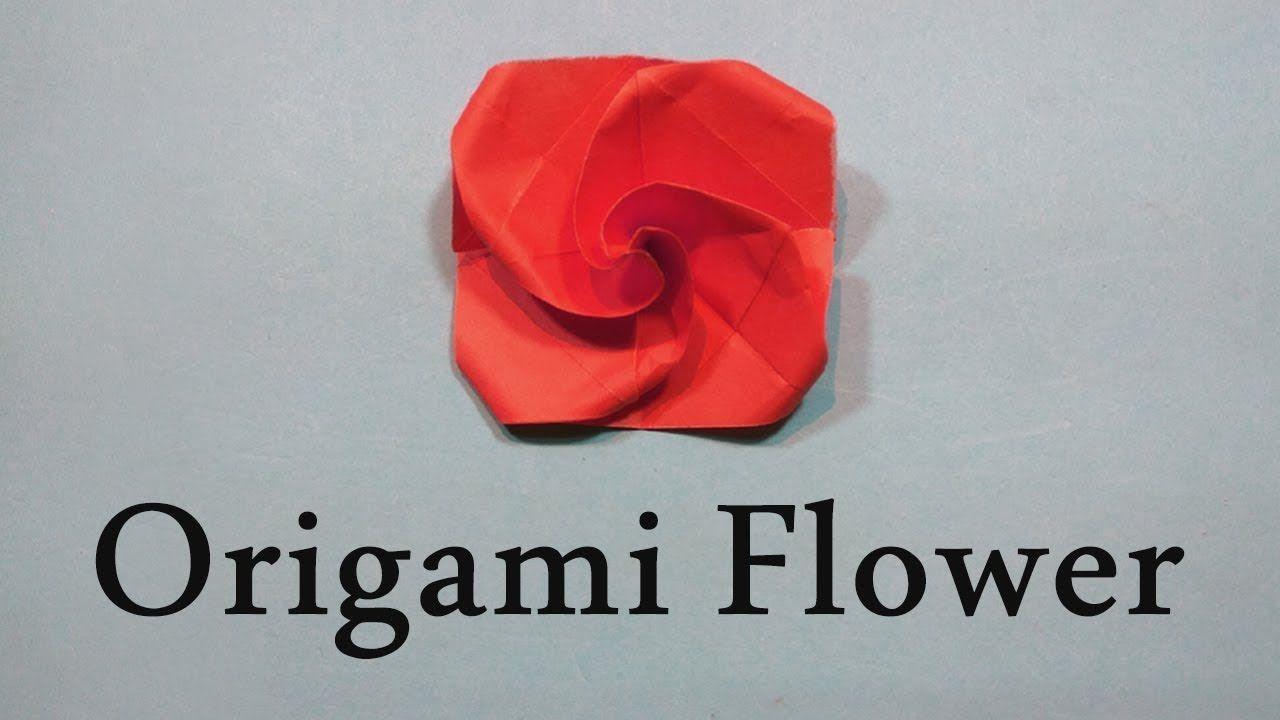 Origami Flower Easy Tutorial Diy Origami Paper Craft Paper