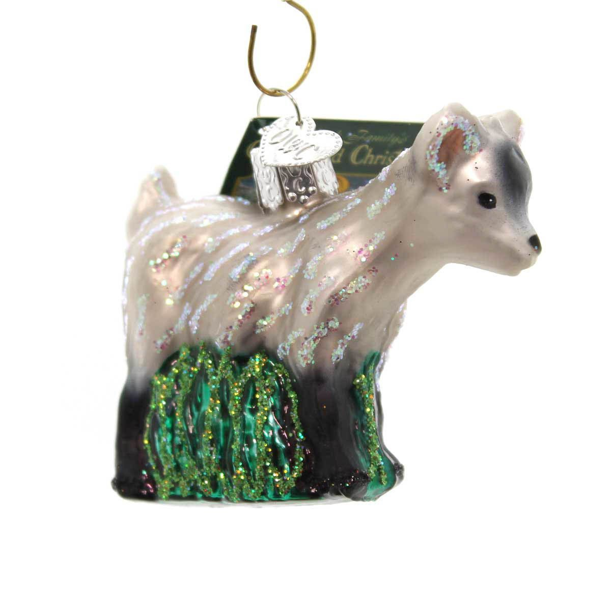 Old World Christmas Pygmy Goat Glass Ornament | Goats, Ornament and ...