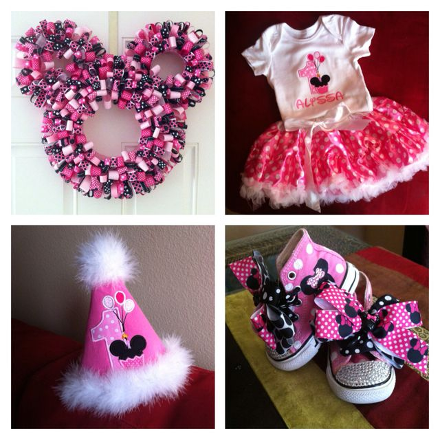 Pin By Glue Stick Diva On Minnie Mouse Birthday Minnie Mouse 1st Birthday Minnie Mouse Party Minnie Mouse Birthday Party