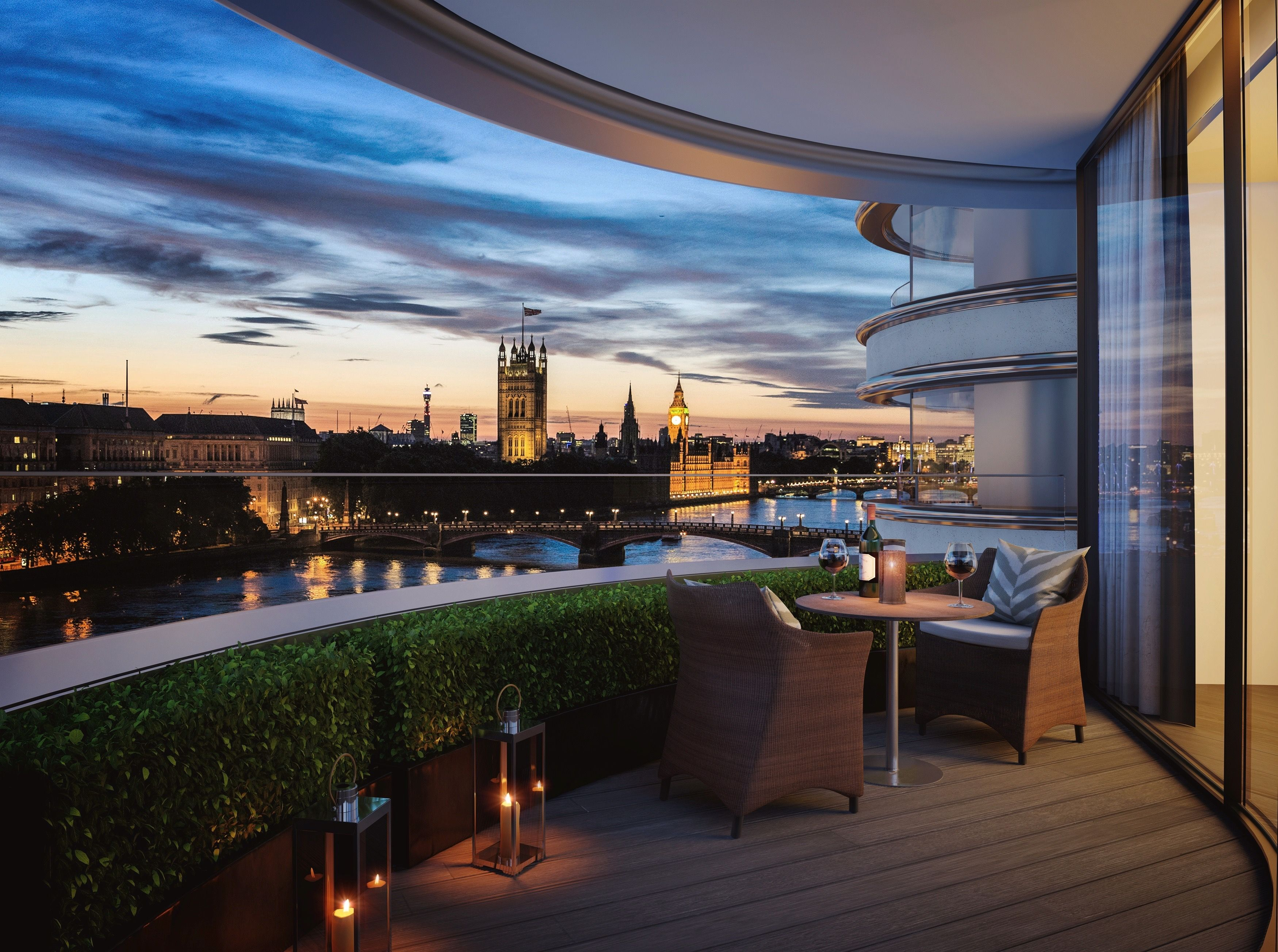 The Corniche Penthouse, London · Apartments For SaleBedroom ...