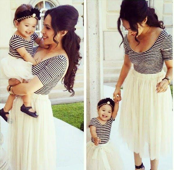 ropa de bebe y madre igual