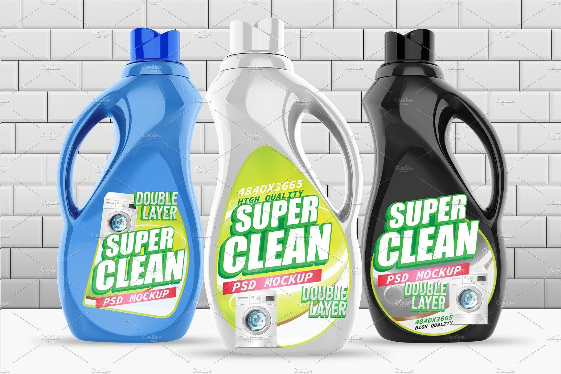 Laundry Detergent Bottle Psd Mockups Laundry Detergent Bottles