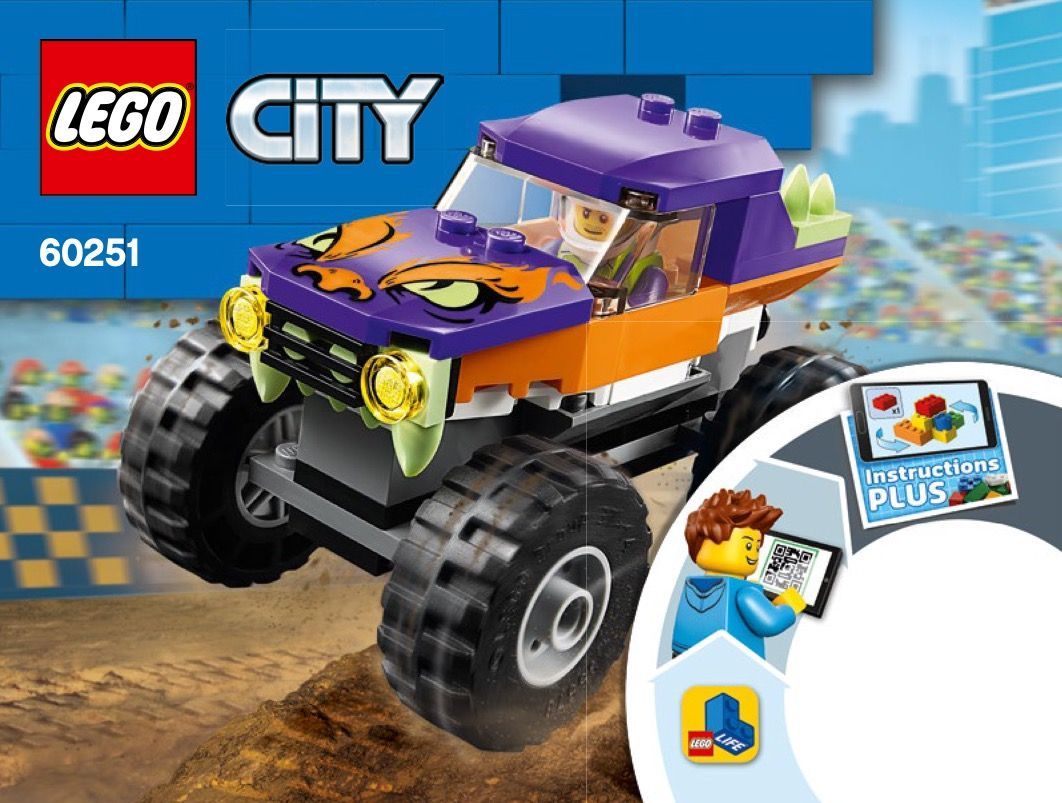 Lego 60251 Monster Truck Instructions Displayed Page By Page To Help You Build This Amazing Lego City Set In 2020 Monster Trucks Trucks Lego