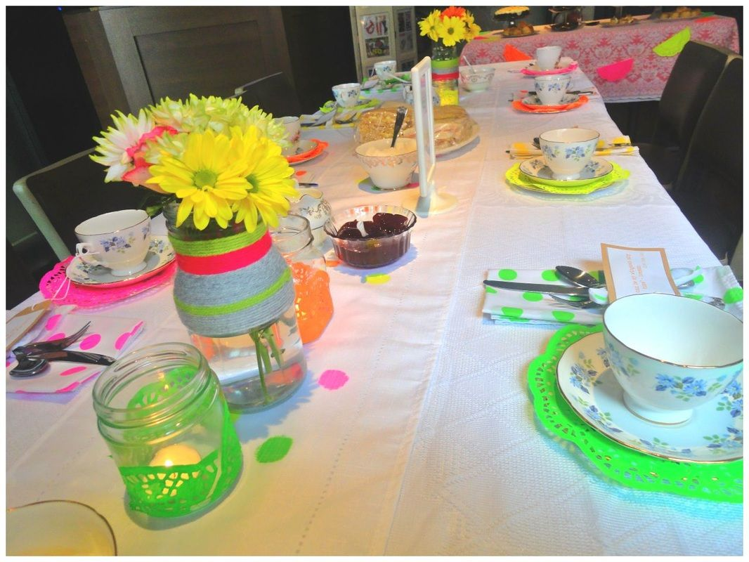 80s Inspired Vintage Tea Party For A Hen Party Table Decorations