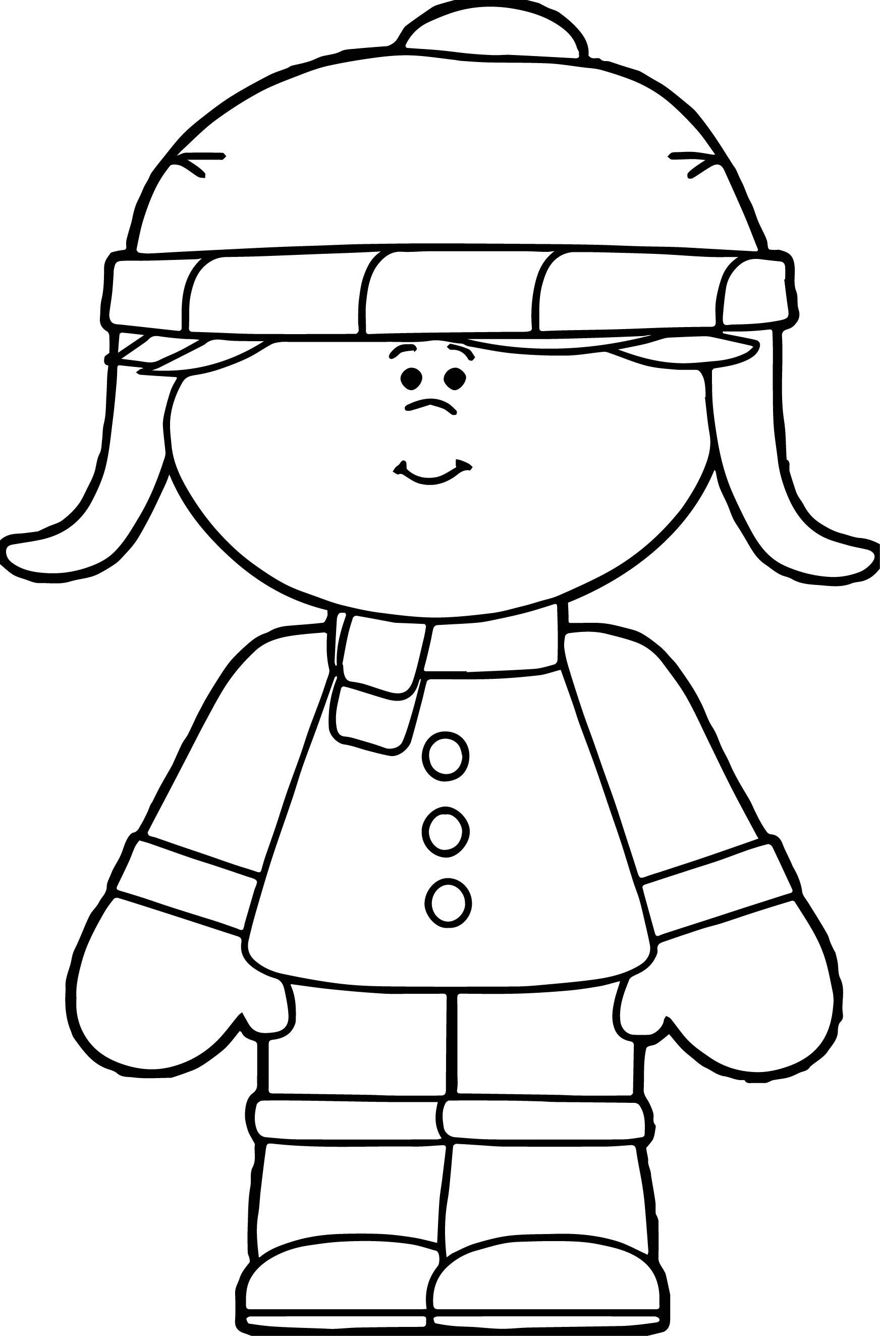 Awesome Winter Little Girl Dressed For Winter Coloring Page With