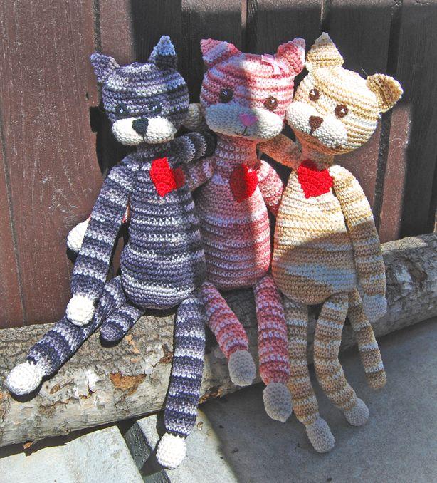 Bild: Virkade katter Sysidan | Virkade katter, Virka katt