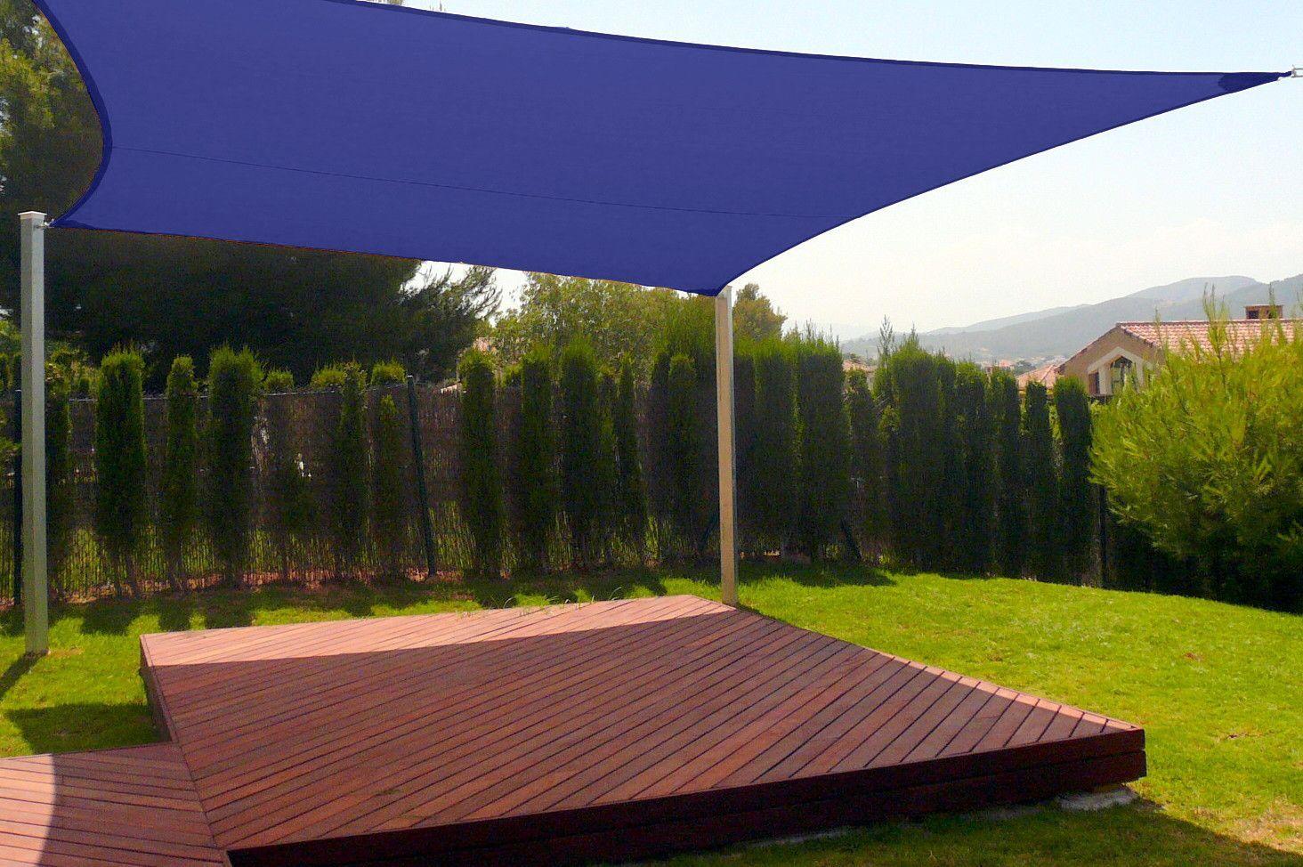 New Premium Clevr Sun Shade Canopy Sail 18' Square UV ...