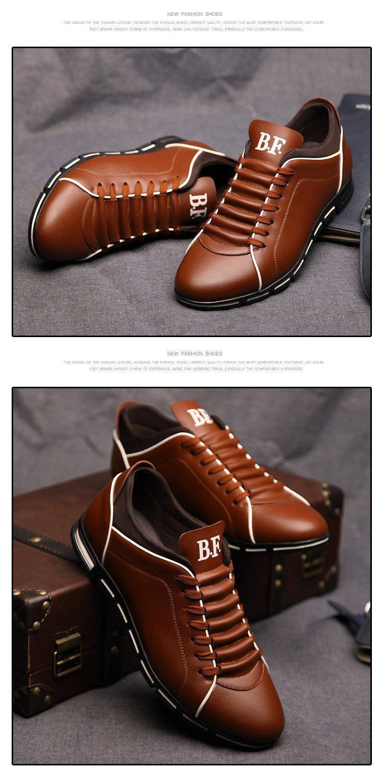 New Casual Breathable Leather Shoes