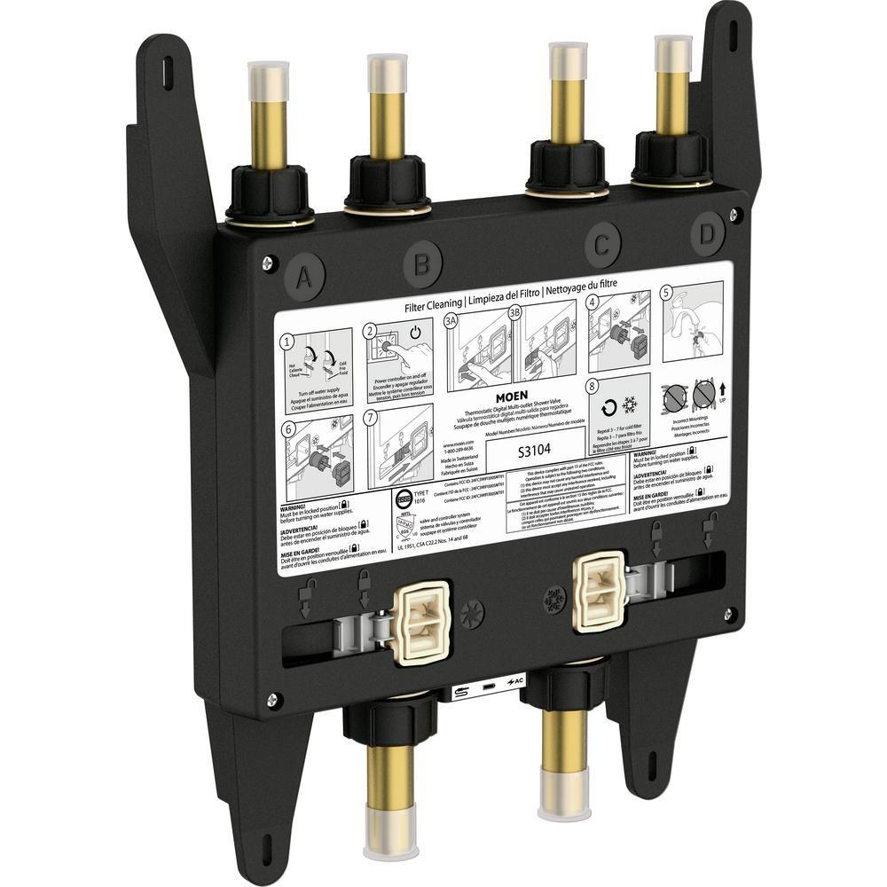Moen U By 4 Outlet Digital Thermostatic Shower Valve Shower