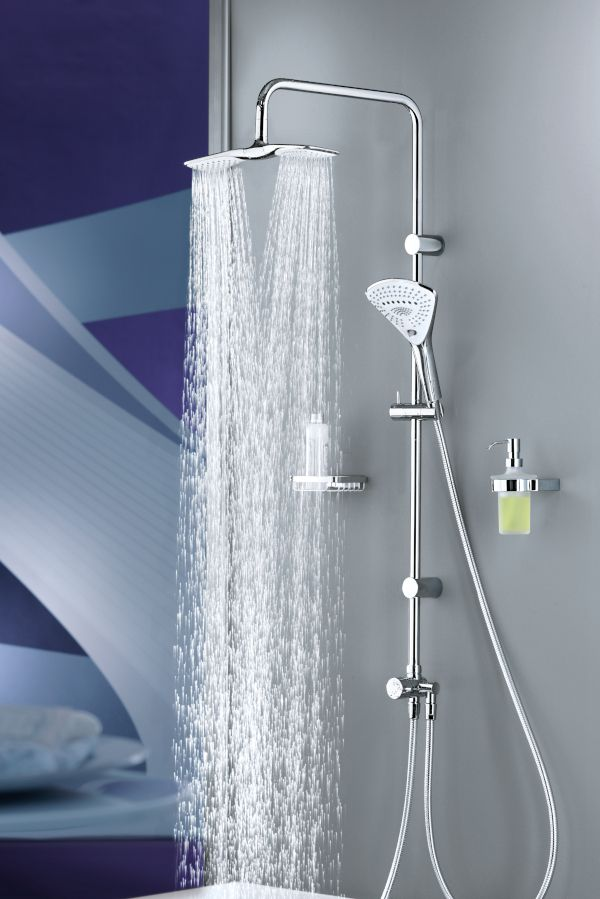 KLUDI FIZZ You can easily adjust the head shower and
