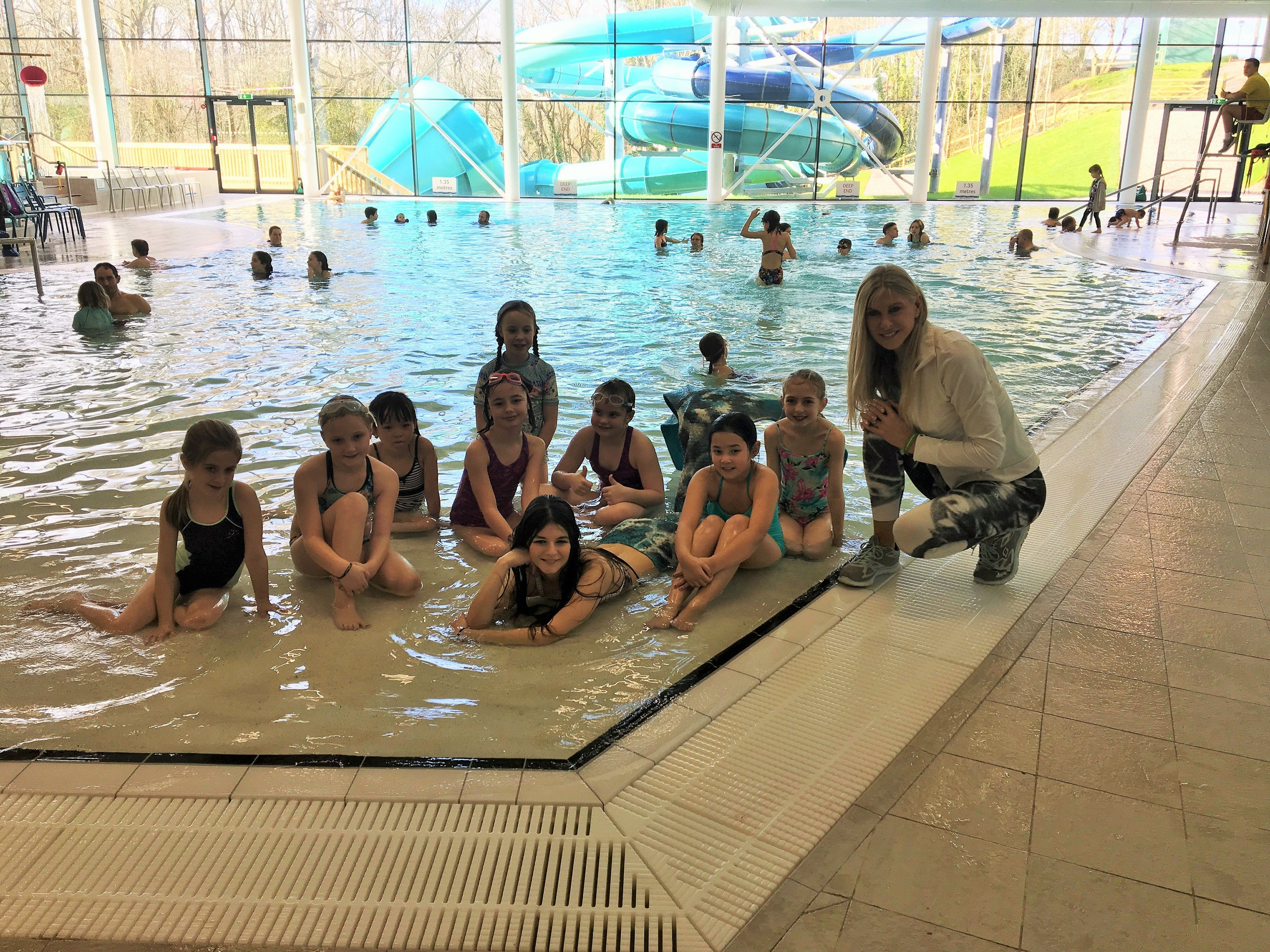 Great to have Sharron Davies opening our new waterpark and
