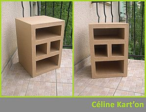 tutoriel comment fabriquer un meuble en carton cart o cardboard furniture diy cardboard. Black Bedroom Furniture Sets. Home Design Ideas
