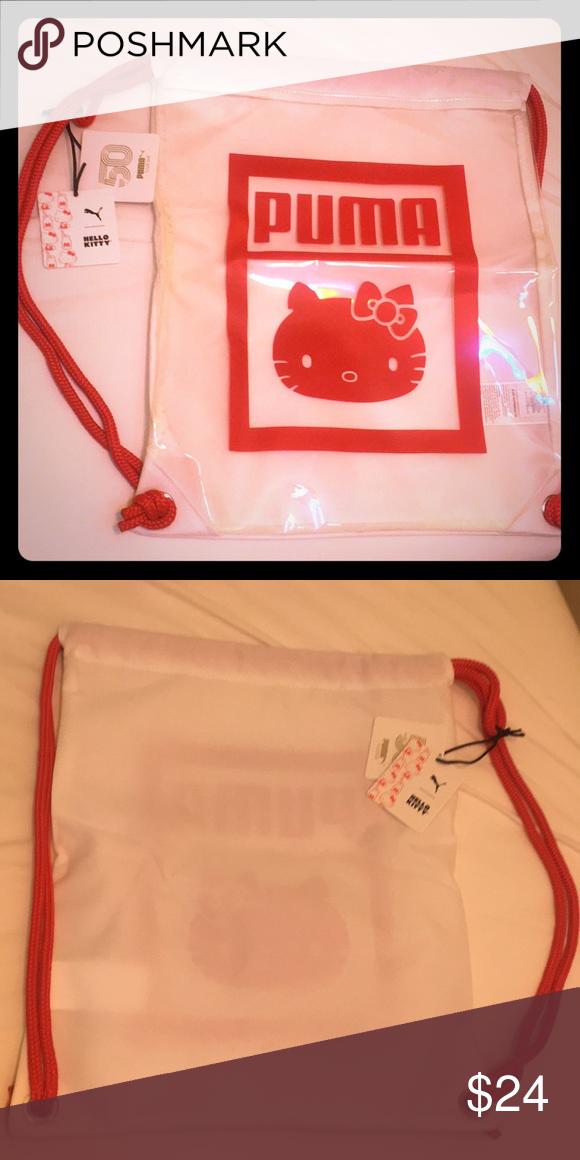 ecc6deae16d0 Backpack Puma X 2/8 Hello Kitty 50 Gym Sack Backpack White Red ...
