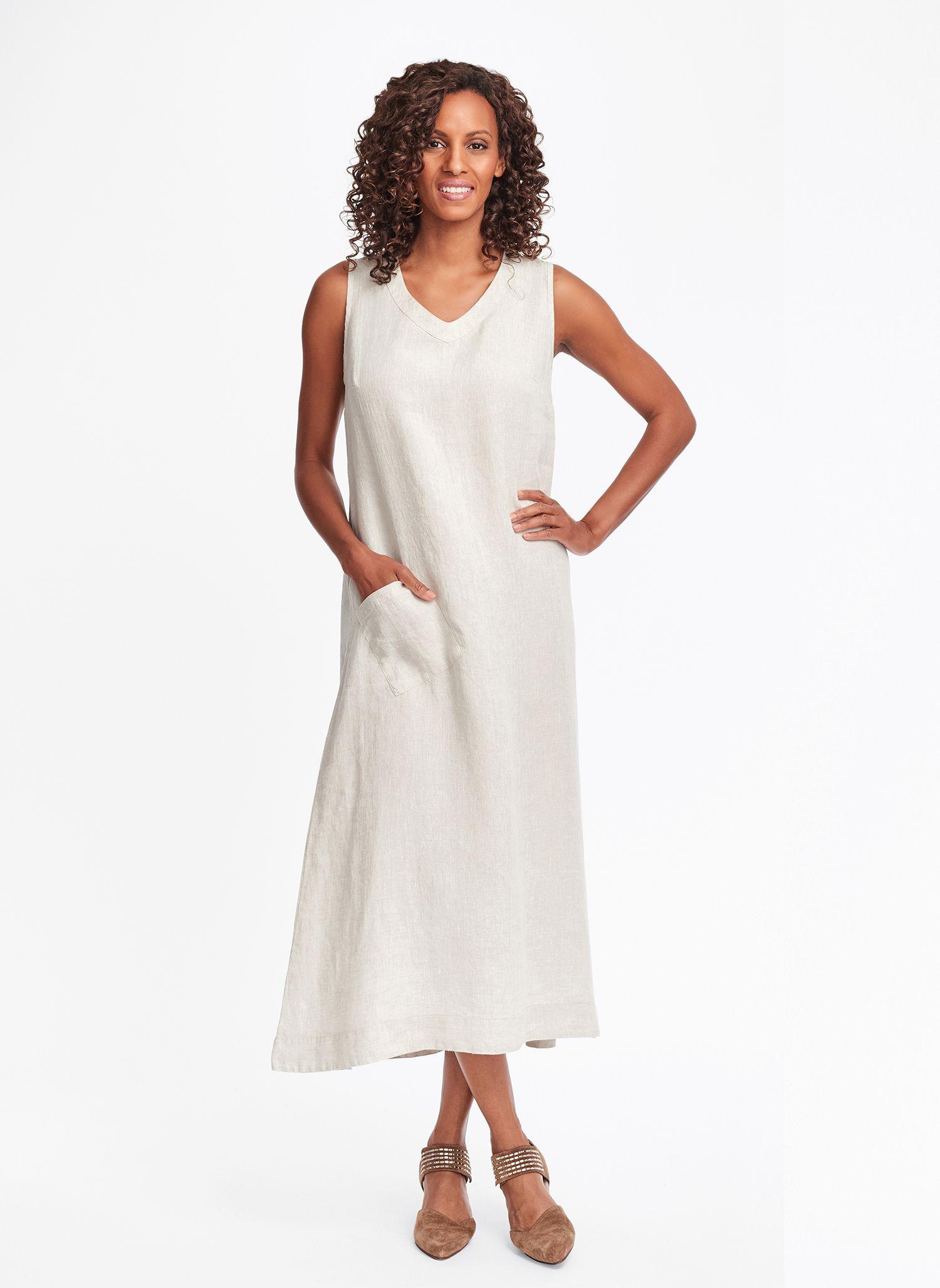 linen shirt dress maxi
