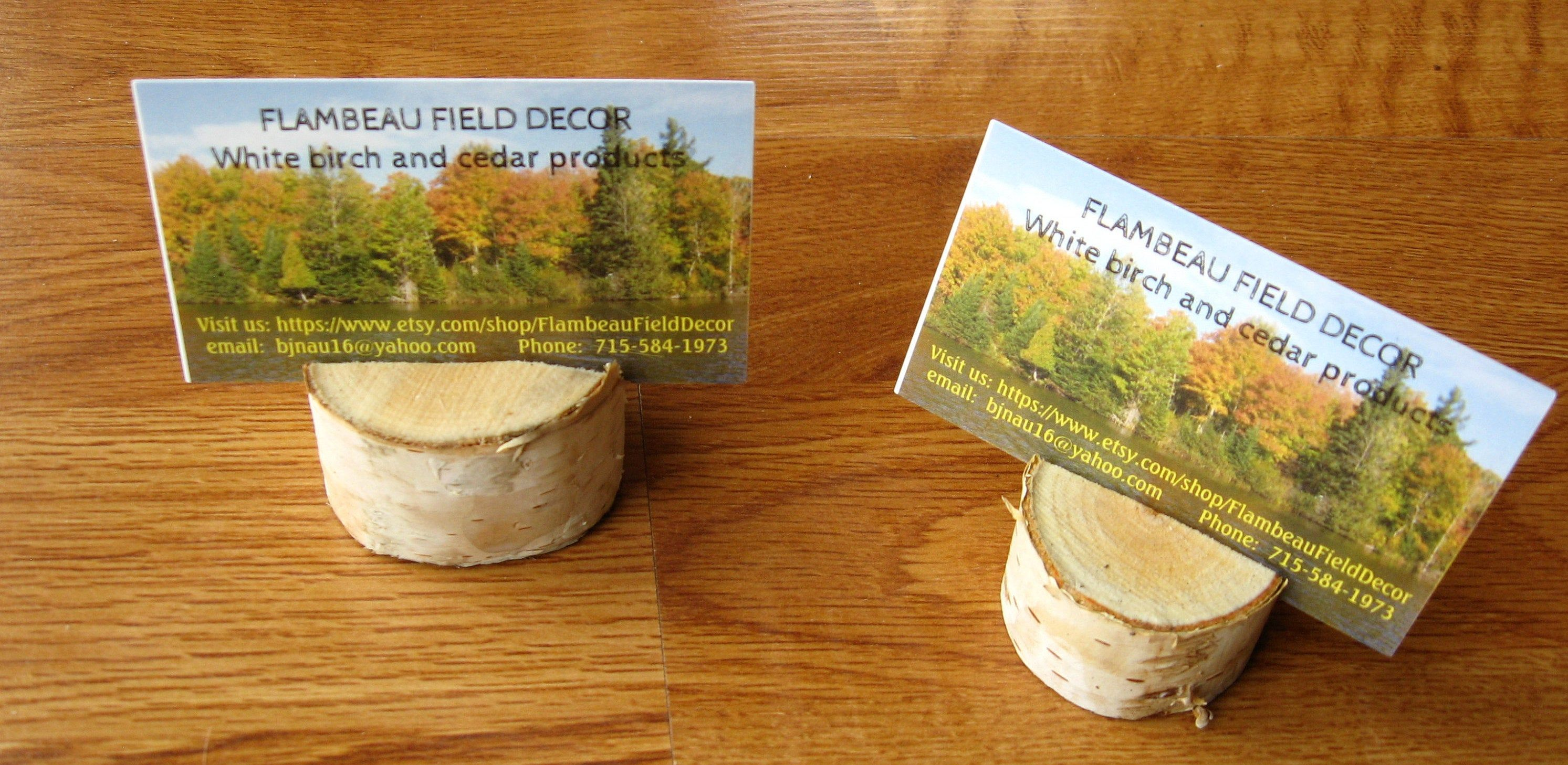 Neat white birch place card holders (With images) Place