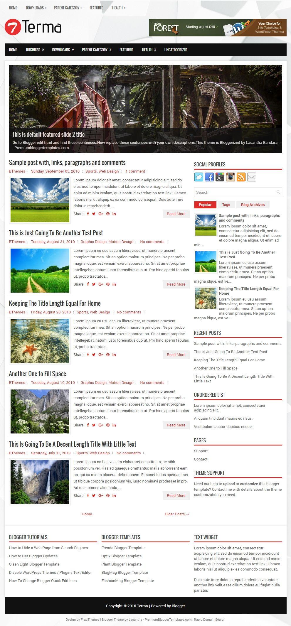 Terma Blogger Template | Blogger templates, Header banner ...